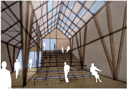 los espacios interiores se habilitan para usos culturales como conferencias