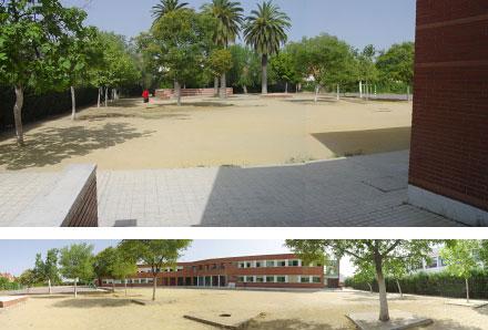 el comedor se construirá en un lateral de la zona de juegos del colegio