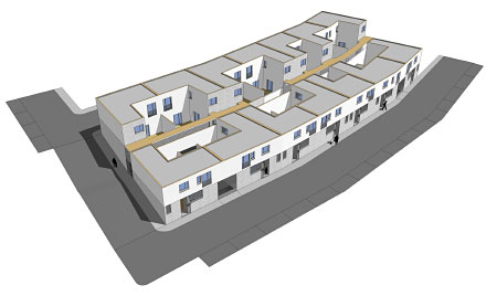 14 viviendas protegidas, almargen, malaga