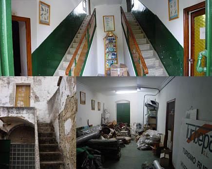 el edificio se encontraba deteriorado y con algunas zonas sin uso, la estructura era de muro de carga de carboncilla (tapial hecho con restos de excavaciones mineras)
