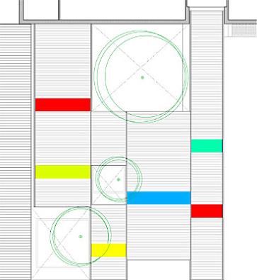 para ello se proponen unas crujias de chapa curva que se adaptan a la posición de los mismos