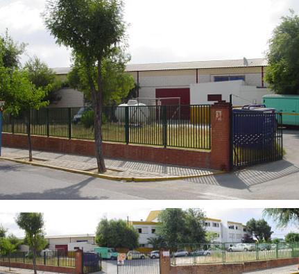 se nos plantea una zona residual de la parcela del colegio para la construcción del comedor
