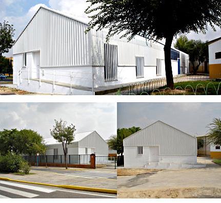 dado que el entorno no invita a abrirse, el edificio se cierra al exterior y se abre a un patio interior