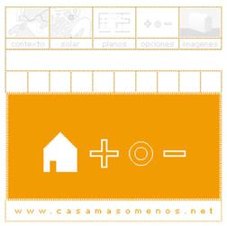 una página web sirvió de plataforma de  comunicación entre futuros usuarios y las  diferentes alternativas de vivienda propuestas  www.casamasomenos.net