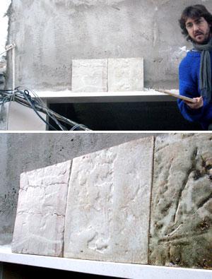 las primeras pruebas de azulejos de fachada de nolo